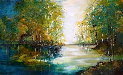Painting - Early Autumn Lake by Courtney Wilding