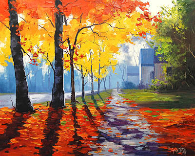 Impressionism Paintings - Early Autumn Light by Graham Gercken