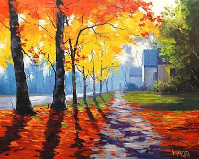 Early Autumn Light Art Print by Graham Gercken