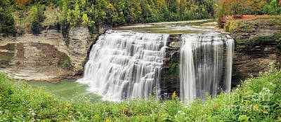 Photograph - Middle Falls Of Letchworth by Karen Jorstad