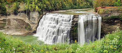 Photograph - Middle Falls Of Letchworth by Karen Jorstad
