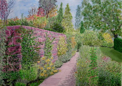 Painting - Early Autumn - Ness Gardens, Wirrral by Peter Farrow