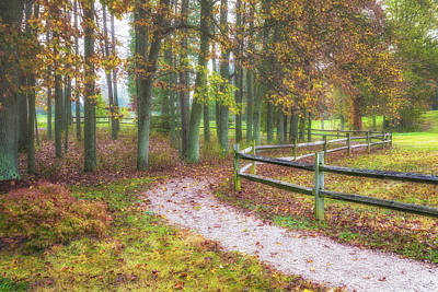 Woodland Trail Photograph - Early Autumn Stroll by Tom Mc Nemar
