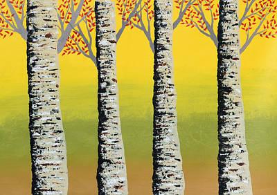 Sun Rays Painting - Early Autumn by Sumit Mehndiratta