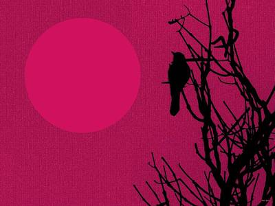 Digital Art - Early Birdy Pink by Val Arie