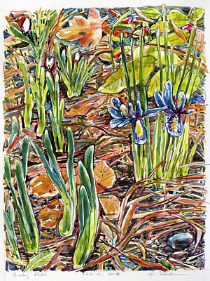 Painting - Early Bulbs by Ann Heideman