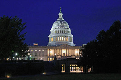 Photograph - Early Dawn At The United States Capitol by Cora Wandel