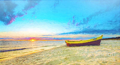 Sand Mixed Media - Early Dawn by Garland Johnson