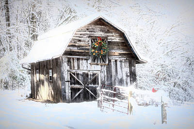 Photograph - Early December Snowfall Morning by Debra and Dave Vanderlaan