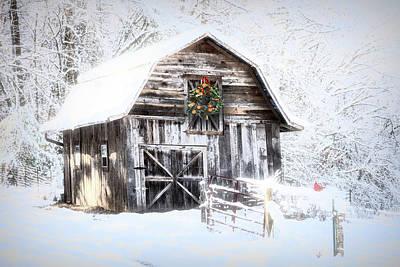 Photograph - Early December Snowfall Morning by Debra and Dave Vanderlaan