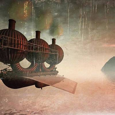 Steampunk Photograph - Early Departure - A Piece Of Work From by John Edwards
