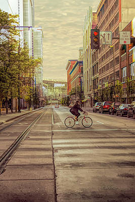 Photograph - Early Downtown Commute by Mike Braun