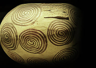 Photograph - Early Egyptian Pot With Swirl Pattern by Nadalyn Larsen