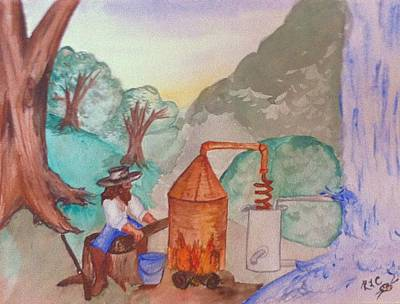 Mountainmen Painting - Early Entrepreneurship by Rhonda Cole