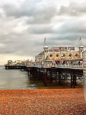 Photograph - Early Evening At Brighton Pier by Dorothy Berry-Lound