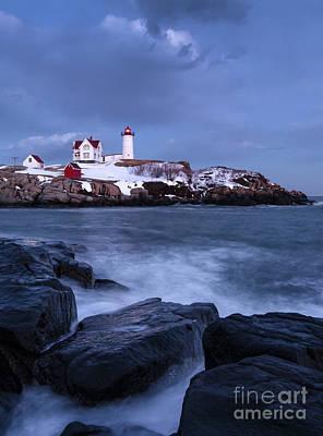 Photograph - Early Evening, Cape Neddick Light, Cape Neddick, Maine  -21087 by John Bald