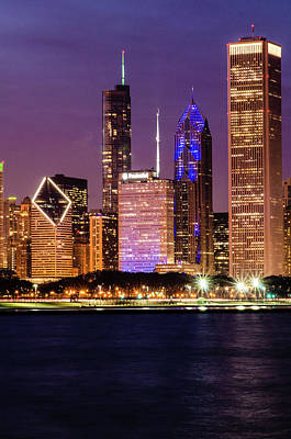 Photograph - Early Evening Chicago by Miguel Winterpacht