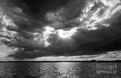 Photograph - Early Evening Clouds On The Bay by Mary Haber