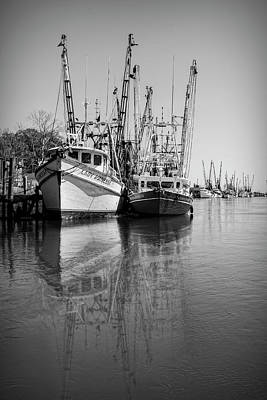 Photograph - Early Evening Harbor In Black And White by Debra and Dave Vanderlaan