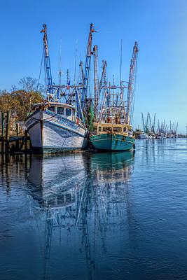 Photograph - Early Evening Harbor In Hdr Detail by Debra and Dave Vanderlaan