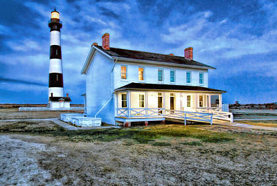 Photograph - Early Evening Lighthouse by Marion Johnson