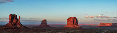 Photograph - Early Evening Monument Valley Panorama by David Cote