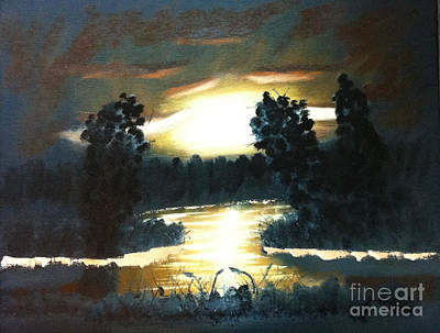 Painting - Early Evening Silhouette by Rod Jellison