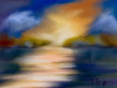 Digital Art - Early Evening Sun by Frank Bright