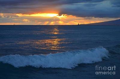 Photograph - Early Evening Sunset Waikiki Hawaii - 13 by Mary Deal