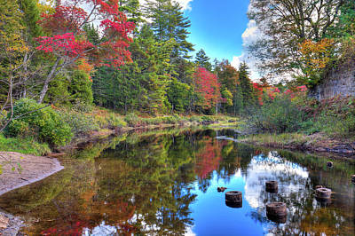Photograph - Early Fall Color On The Moose River by David Patterson