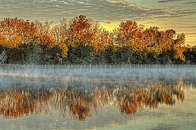 Photograph - Early Fall Morning On The Fox River by Roger Passman