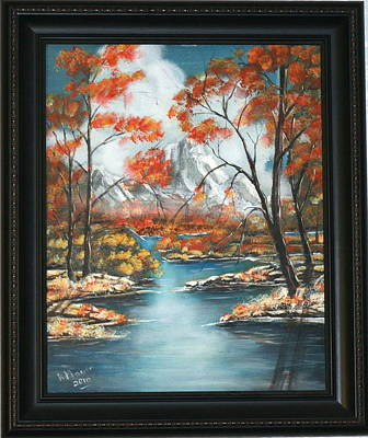Snow Covered Ground Painting - Early Fall Mountain by Richard Mauer