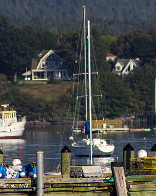 Photograph - Early Fall Sw Harbor by Dick Botkin