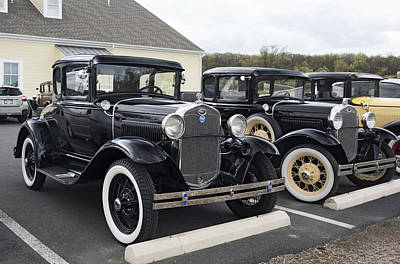 Photograph - Early Ford Cars by Paul Ross