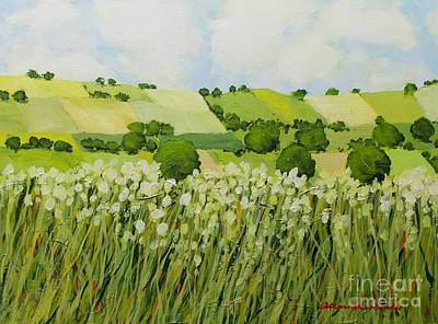 Painting - Early Grass by Allan P Friedlander