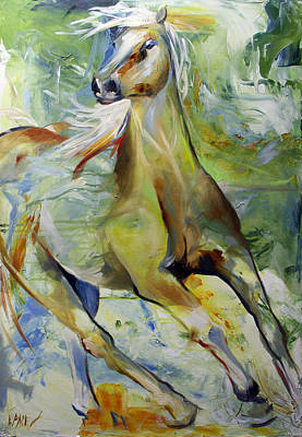Equine Painting - Early Hint Of Spring by Laurie Pace
