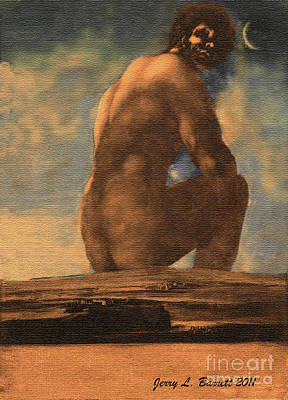 Mixed Media - Early Human by Jerry L Barrett