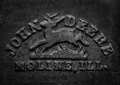 Photograph - Early John Deere Emblem by Jeff Phillippi