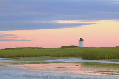Art Print featuring the photograph Early Light At Wood End Light by Roupen  Baker