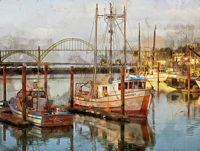 Photograph - Early Light On Yaquina Bay by Thom Zehrfeld