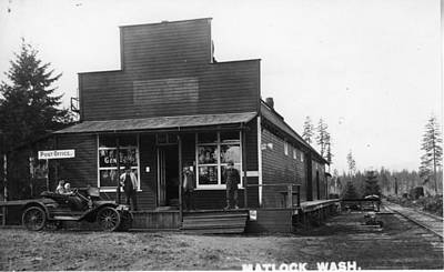 Photograph - Early Matlock Store With Auto by Unknown