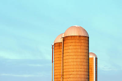 Early Monring Silos Art Print by Todd Klassy