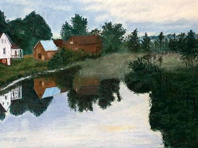 Early Morning Along The Wabash River Art Print by Jack Spath