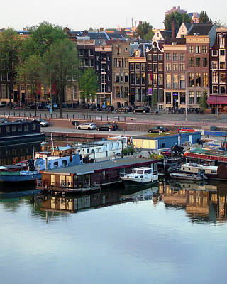 Photograph - Early Morning Amsterdam Reflections by Susan Lafleur