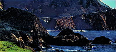 Pacific Digital Art - Early Morning At Bixby Creek Bridge by Russ Harris