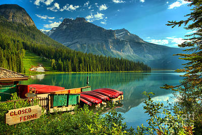 Photograph - Early Morning At Emerald Lake by Adam Jewell