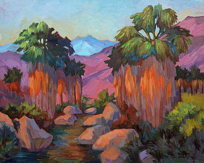 Ferns Painting - Early Morning At Indian Canyon by Diane McClary