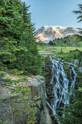 Photograph - Early Morning At Myrtle Falls by Belinda Greb