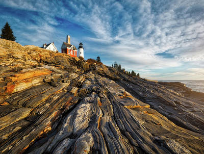 Early Morning At Pemaquid Point Print by Darren White