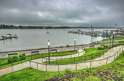 Photograph - Rainy Morning At Riverside Gardens Park by Gary Slawsky